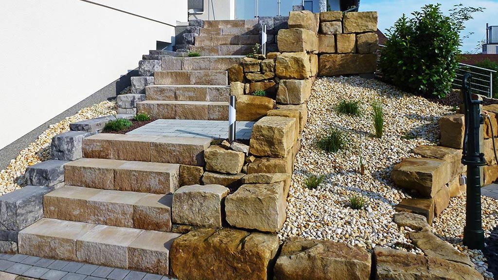 Treppenanlagen von Außengestaltung Vogt